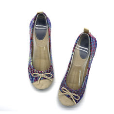 China Breathable Soft  Ballet Flat Shoes Classic  Womens Ballet Shoes Screen Print supplier