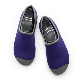 China Heel Reinforced Winter Footwear For Ladies Durable Purple Lined Pattern supplier